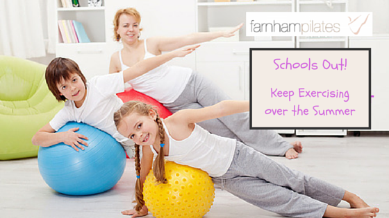 Exercise with kids in the summer holidays