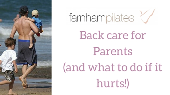 Back care for parents