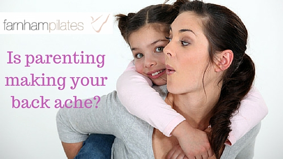 Parenting making your back ache